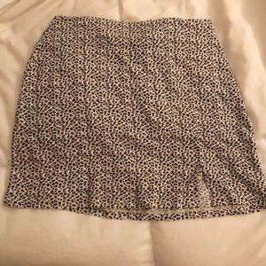 BRAND NEW leopard print mini skirt